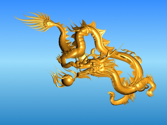 chinese dragon 03 3d model 3ds max fbx obj 124583