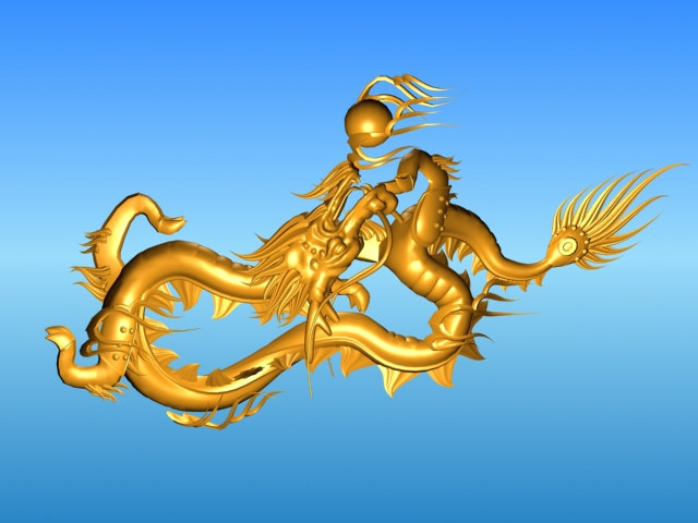 chinese dragon 03 3d model 3ds max fbx obj 124584