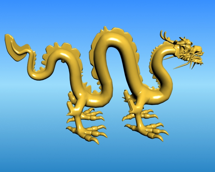 chinese dragon 03 3d model 3ds max fbx obj 124585