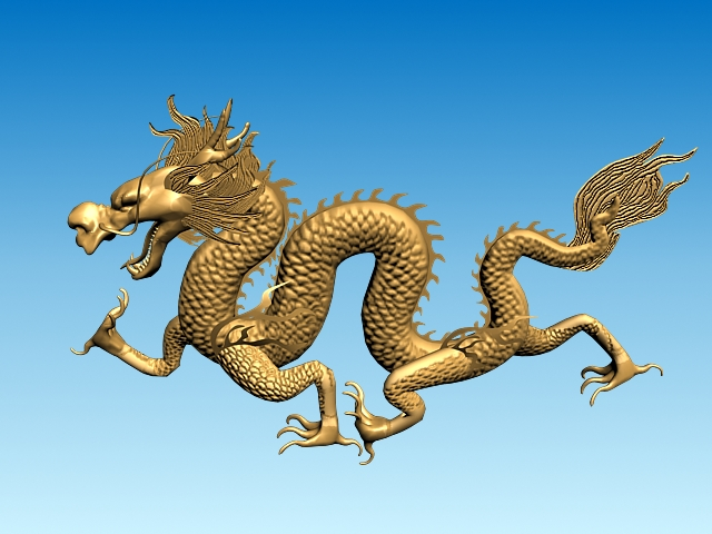 chinese dragon 3d model 3ds max fbx obj 124568