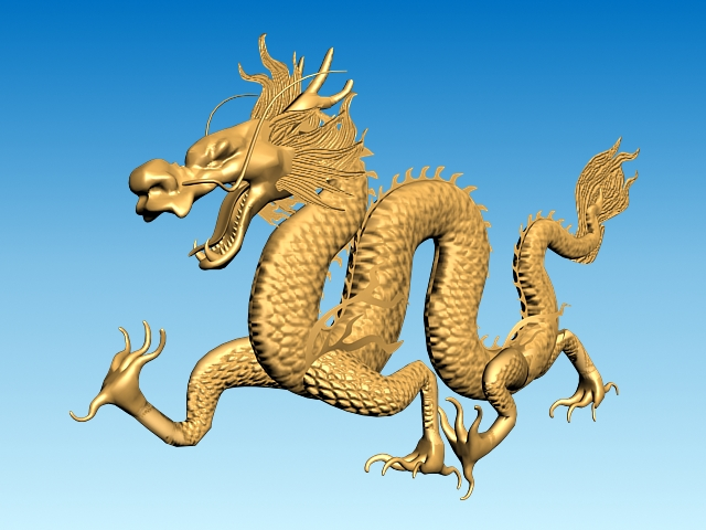 chinese dragon 3d model 3ds max fbx obj 124569