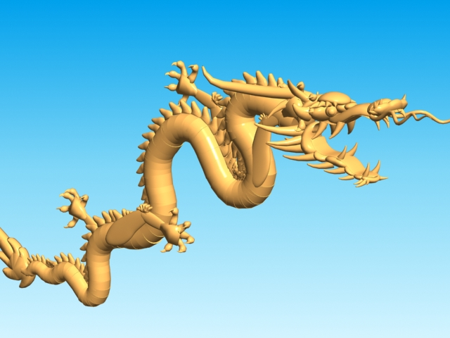 chinese dragon 3d model 3ds max fbx obj 124572