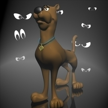 scooby doo 3d rigged 3d modelis 3ds max fbx lwo obj 108084