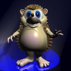 Cartoon Hedgehog Rigged ( 113.3KB jpg by supercigale )