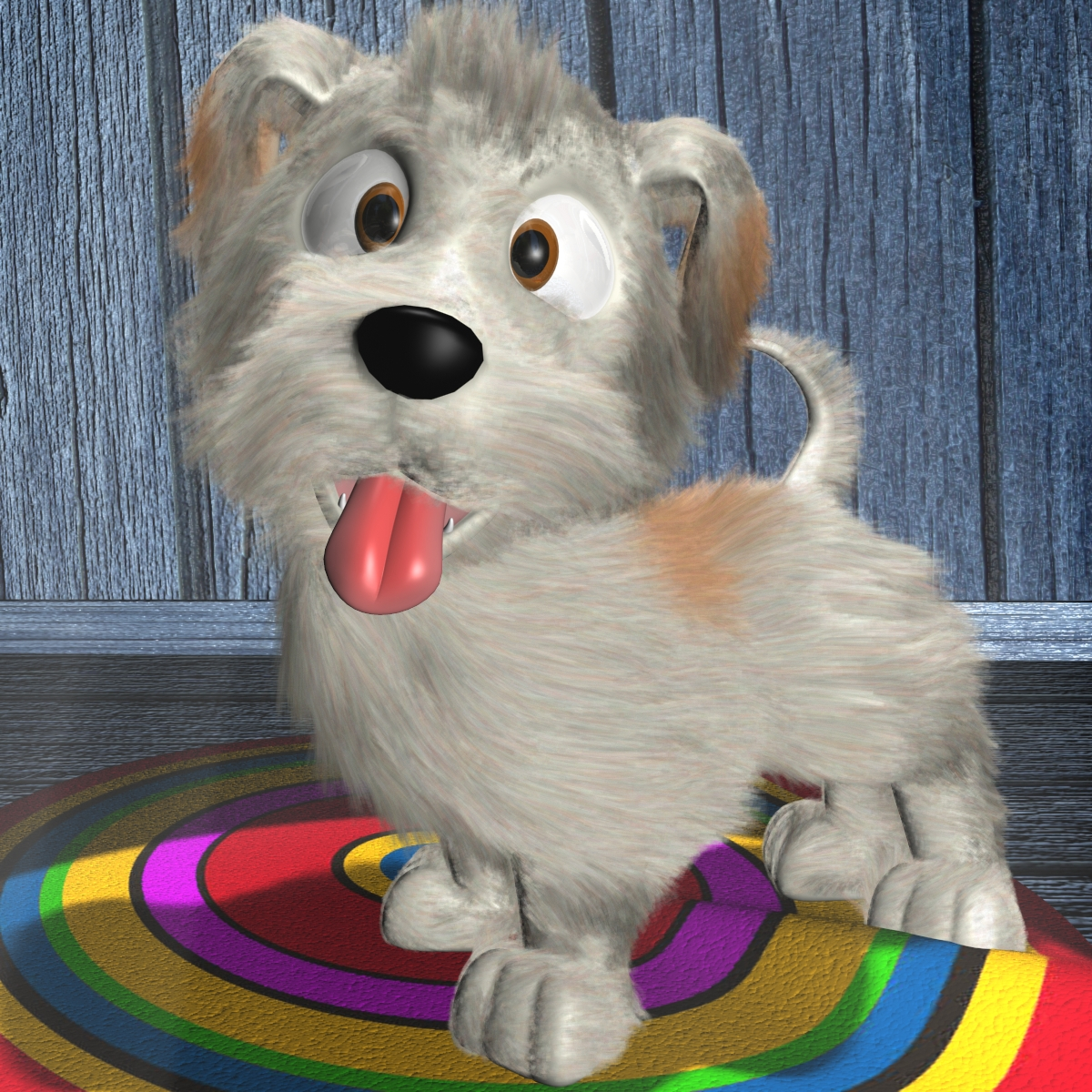 cartoon dog riged 3d model 3ds max fbx obj 158237