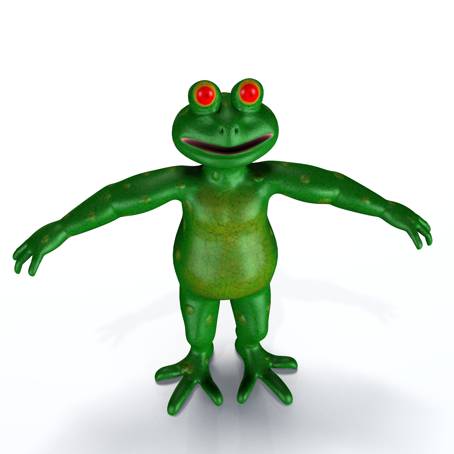 cartoon frog 3d model blend obj 138556