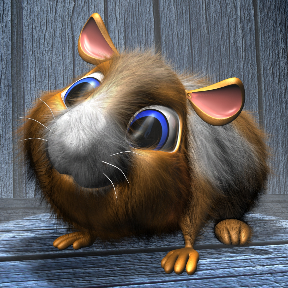 cartoon hamster rigged 3d model 3ds max fbx obj 153821