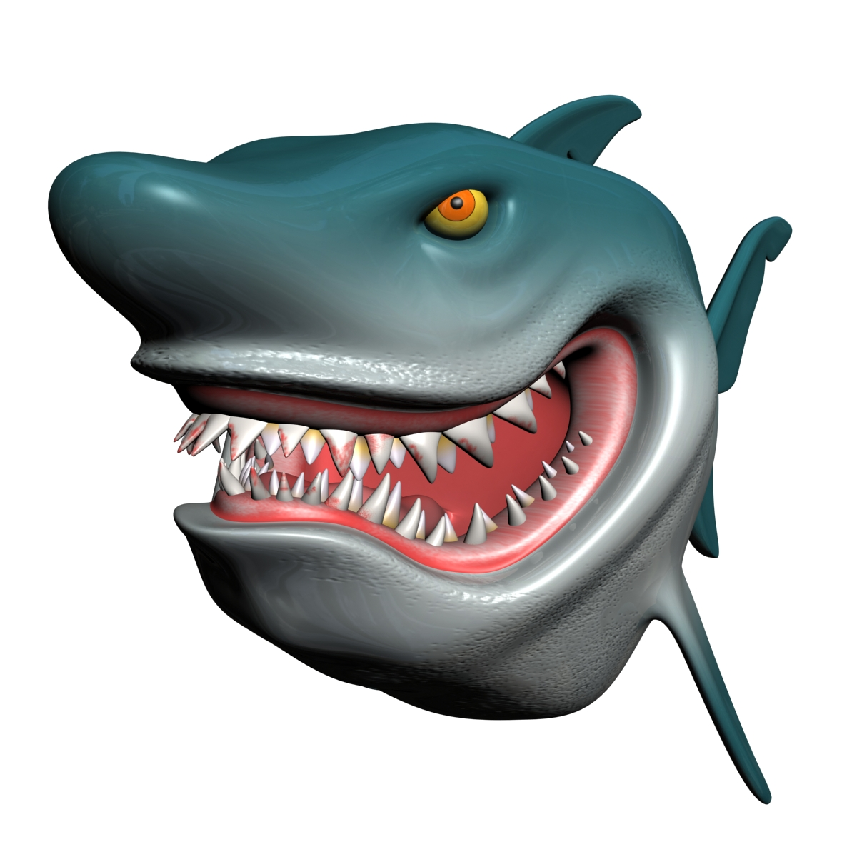 cartoon shark rigged 3d model 3ds max fbx obj 159704