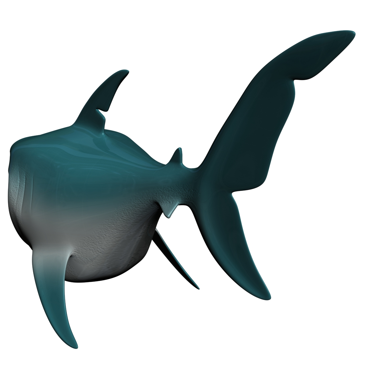 cartoon shark rigged 3d model 3ds max fbx obj 159705
