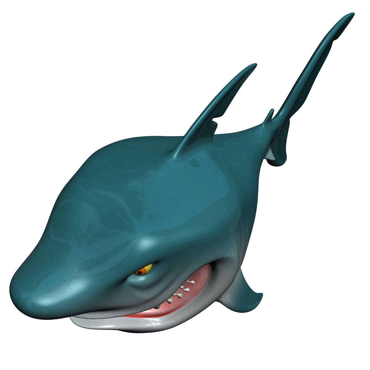 cartoon shark rigged 3d model 3ds max fbx obj 159706