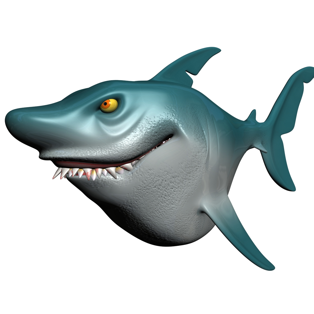 cartoon shark rigged 3d model 3ds max fbx obj 159707