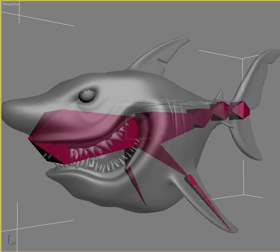 cartoon shark rigged 3d model 3ds max fbx obj 159711