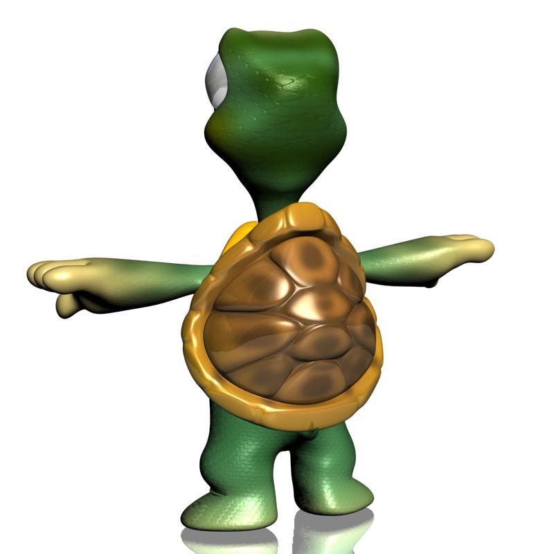 crtani kornjača namješten 3d model 3ds max fbx obj 157348