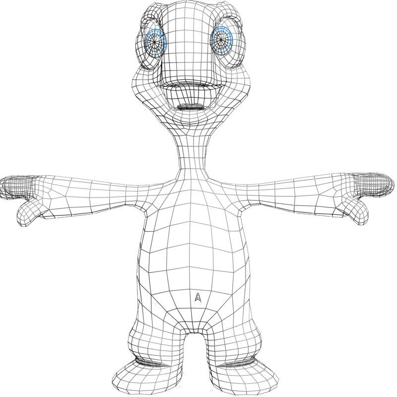 crtani kornjača namješten 3d model 3ds max fbx obj 157351