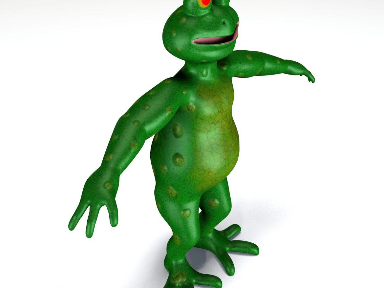 cartoon frog 3d model animals 3d models characters blend obj ar vr