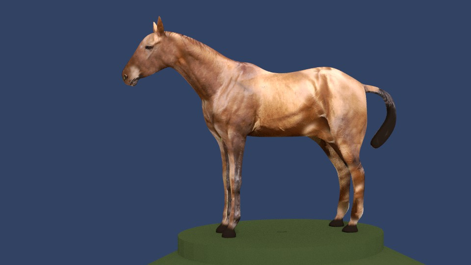 horse v4 3d model 3ds fbx blend dae obj 164652