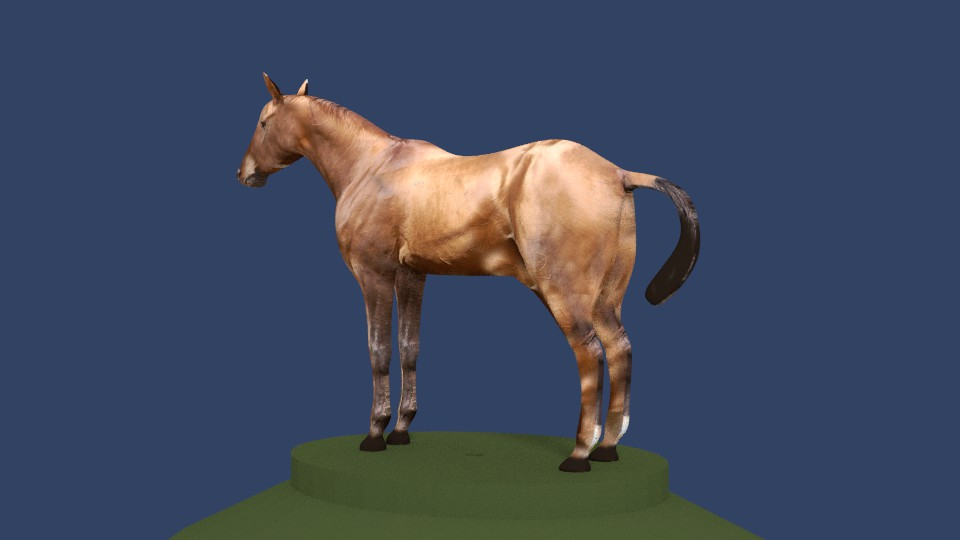 horse v4 3d model 3ds fbx blend dae obj 164653