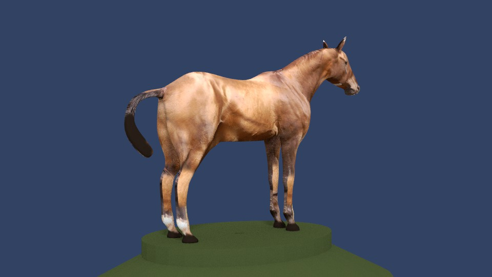 horse v4 3d model 3ds fbx blend dae obj 164655