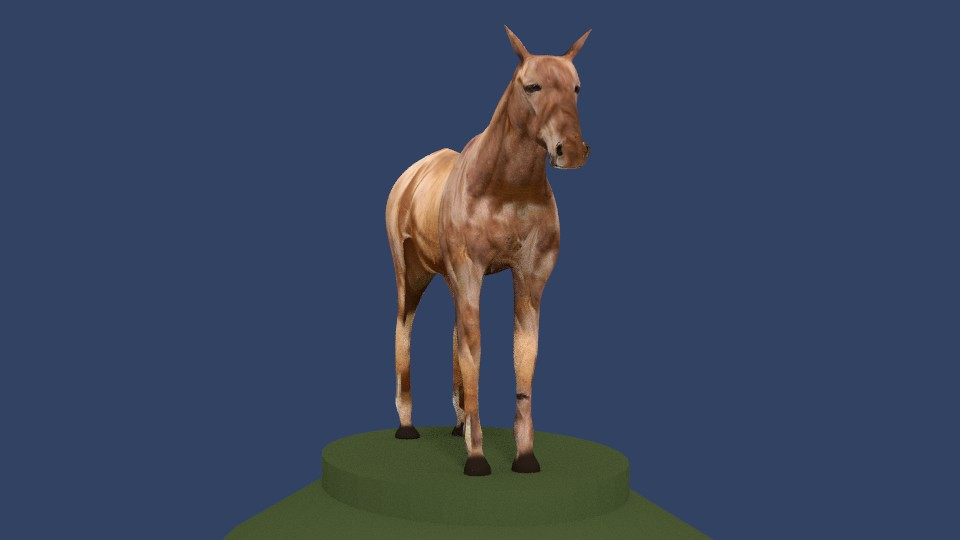 horse v4 3d model 3ds fbx blend dae obj 164657