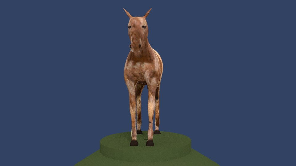 horse v4 3d model 3ds fbx blend dae obj 164658