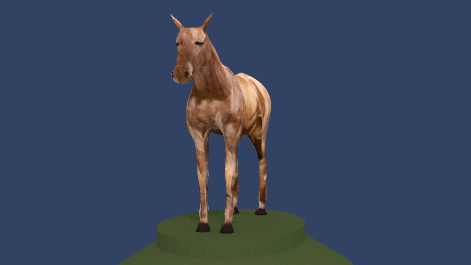 horse v4 3d model 3ds fbx blend dae obj 164659