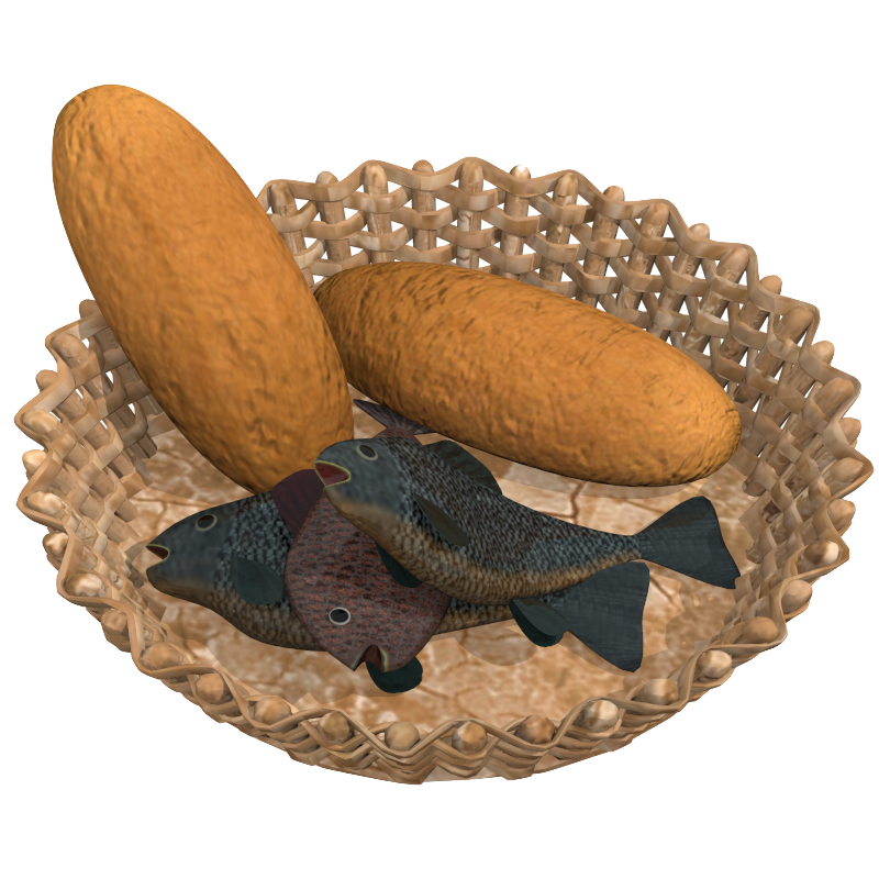 loaves and fishes 3d model obj 148939