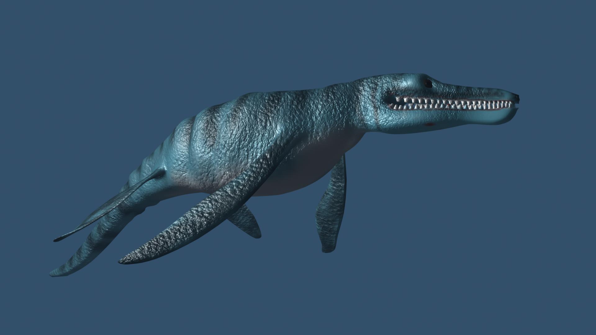 pliosaurus 3d model ma mb 162298