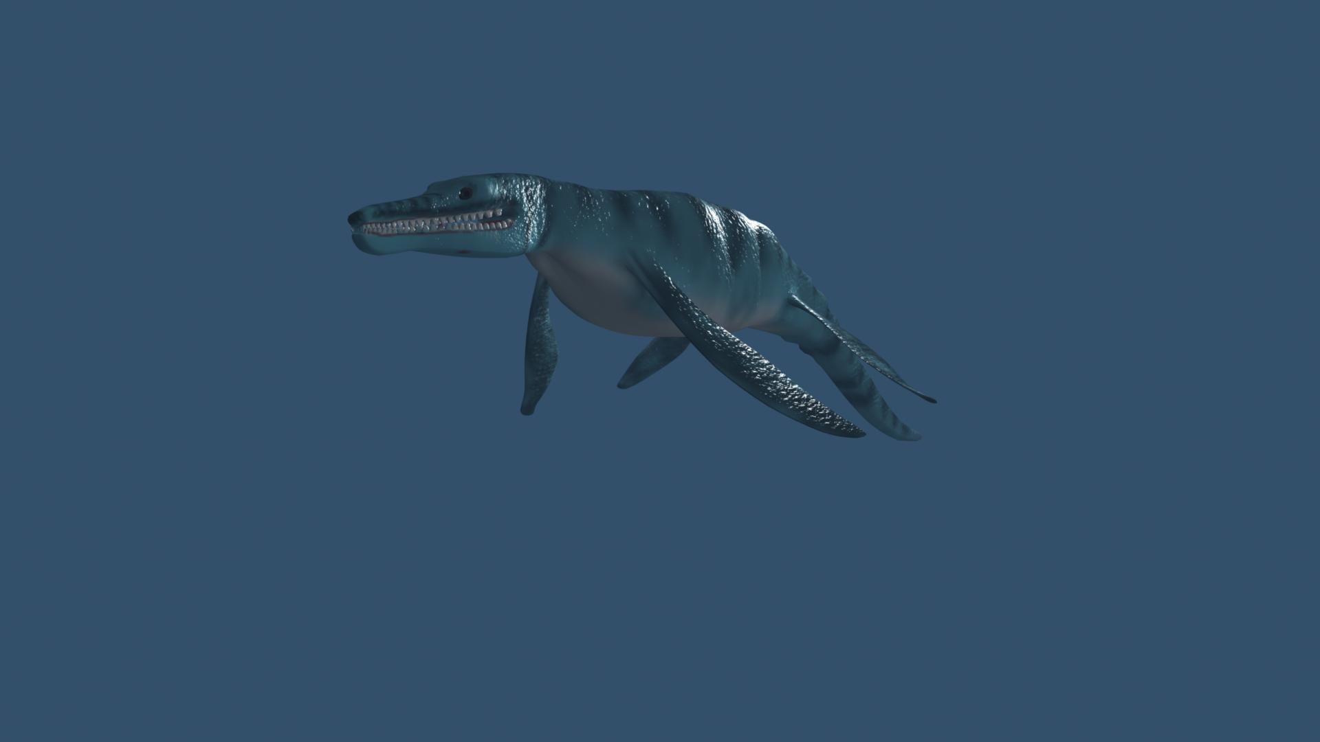 pliosaurus 3d model ma mb 162301