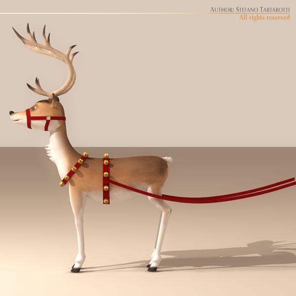 santa reindeer karikaturë 3d model 3ds max dxf fbx c4d nga ma mb obj 121208