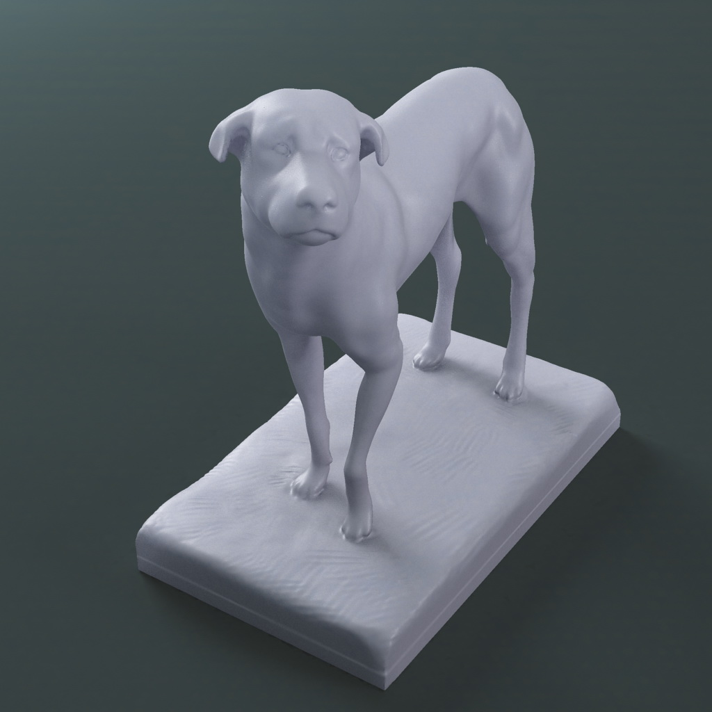 the lost dog statue (printable stl collada) 3d model max fbx dae ma mb  121594