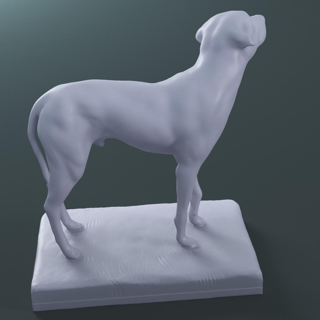 the lost dog statue (printable stl collada) 3d model max fbx dae ma mb  121596