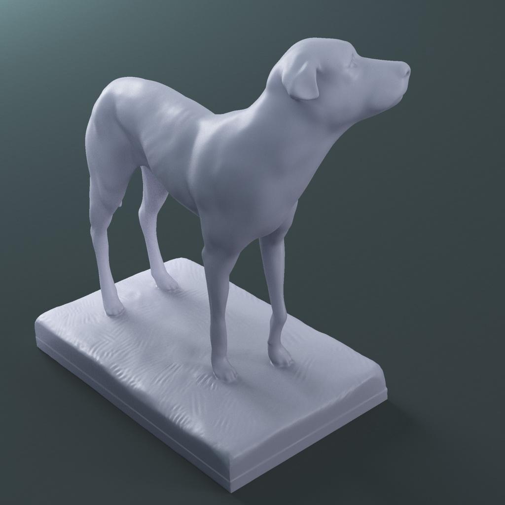 the lost dog statue (printable stl collada) 3d model max fbx dae ma mb  121597