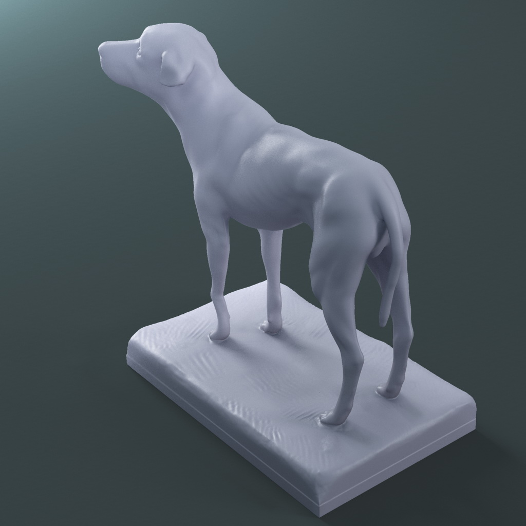 the lost dog statue (printable stl collada) 3d model max fbx dae ma mb  121598
