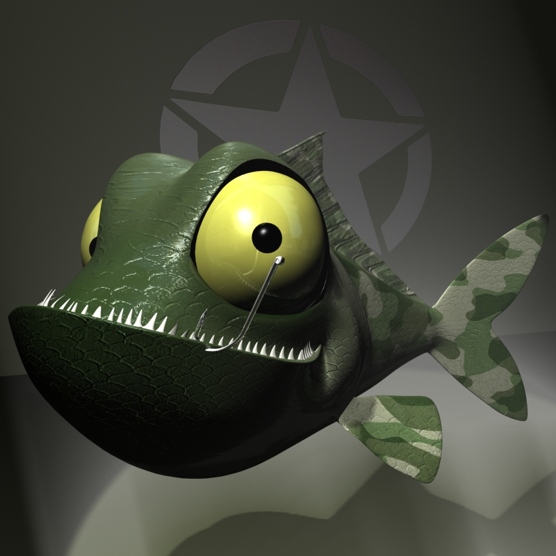 veteran fish rigged 3d model 3ds max fbx lwo obj 119218