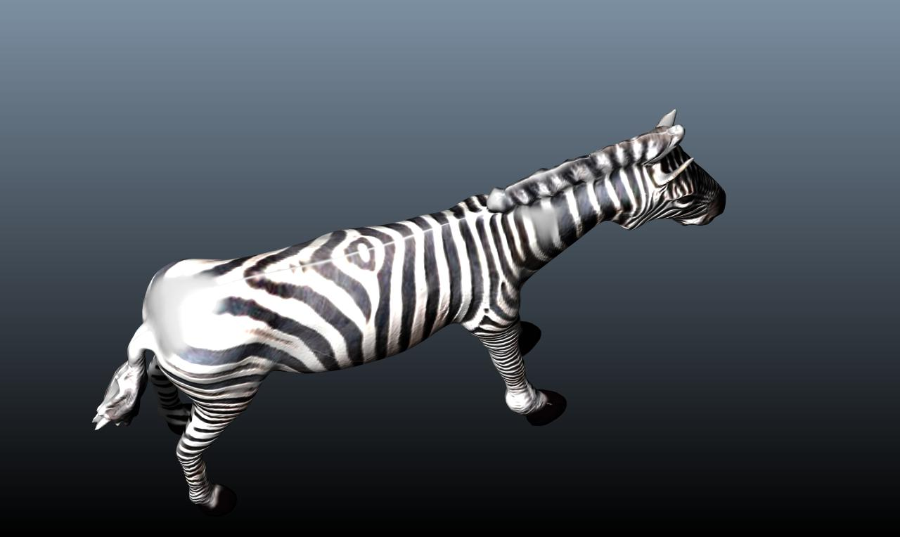 zebra v3 3d model obj 148215
