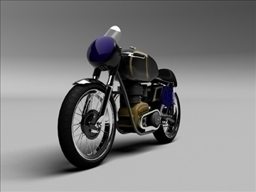 ajs 7r caf racer 1954 3d model 3ds max c4d obj 100727