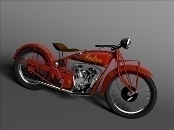 indian scout 1928 3d model 3ds max c4d obj 101165