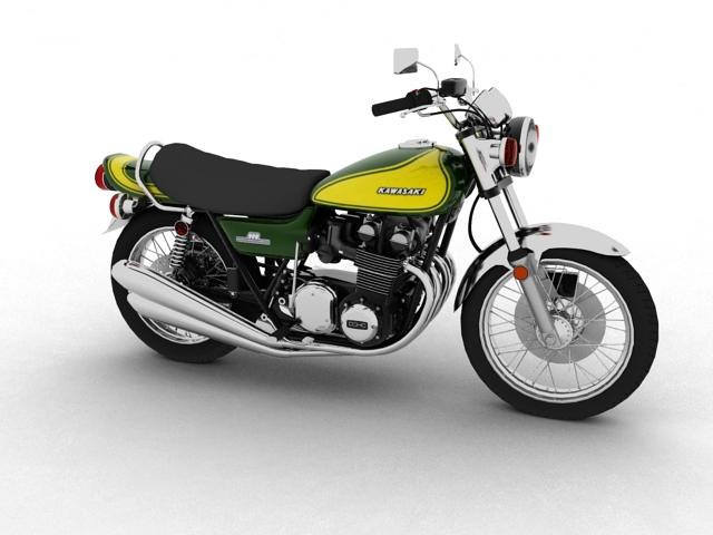 kawasaki z1 900 1972 3d model 3ds max fbx c4d obj 154685