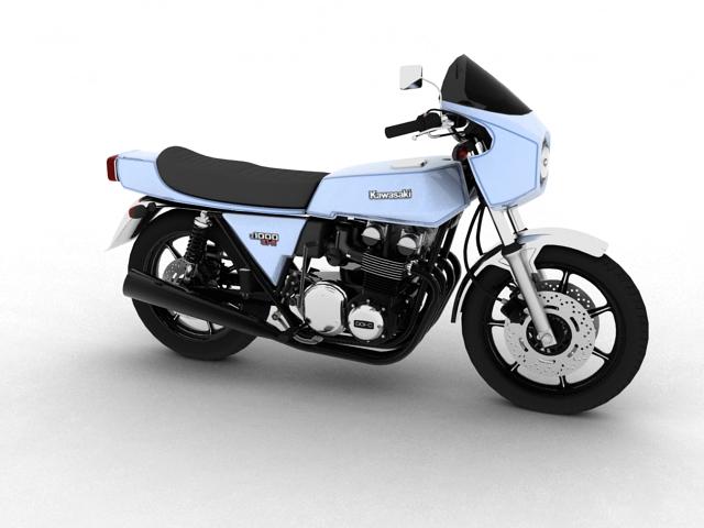kawasaki z1-r 1977 3d model 3ds max fbx c4d obj 154708