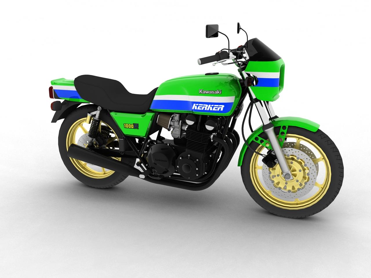 kawasaki z1000r 1981 3d model 3ds max fbx c4d obj 154855