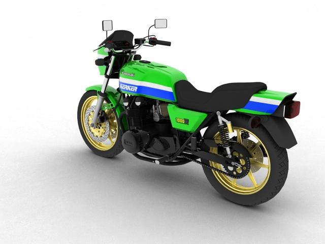 kawasaki z1000r 1981 3d model 3ds max fbx c4d obj 154859