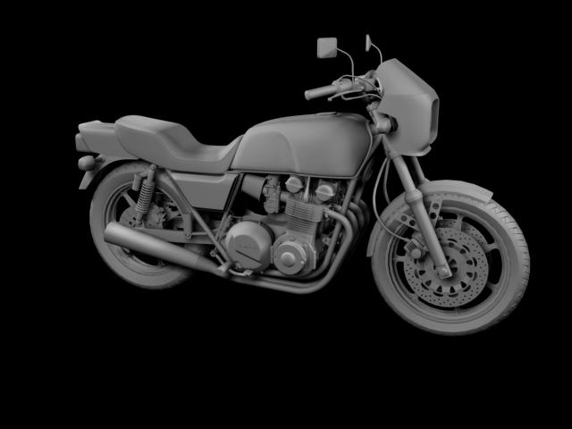 kawasaki z1000r 1981 3d model 3ds max fbx c4d obj 154864