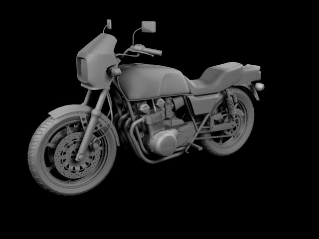 kawasaki z1000r 1981 3d model 3ds max fbx c4d obj 154865