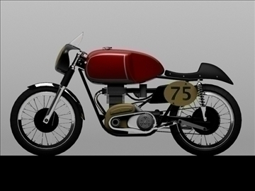 matchless g50 1954 3d model 3ds max c4d obj 100715