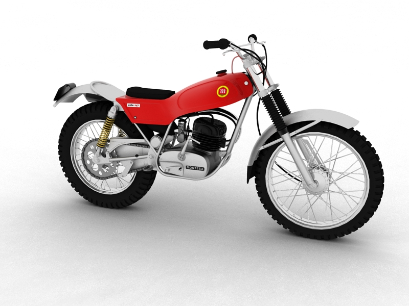 montesa cota 247 1970 3d model 3ds max dxf fbx c4d obj 156006