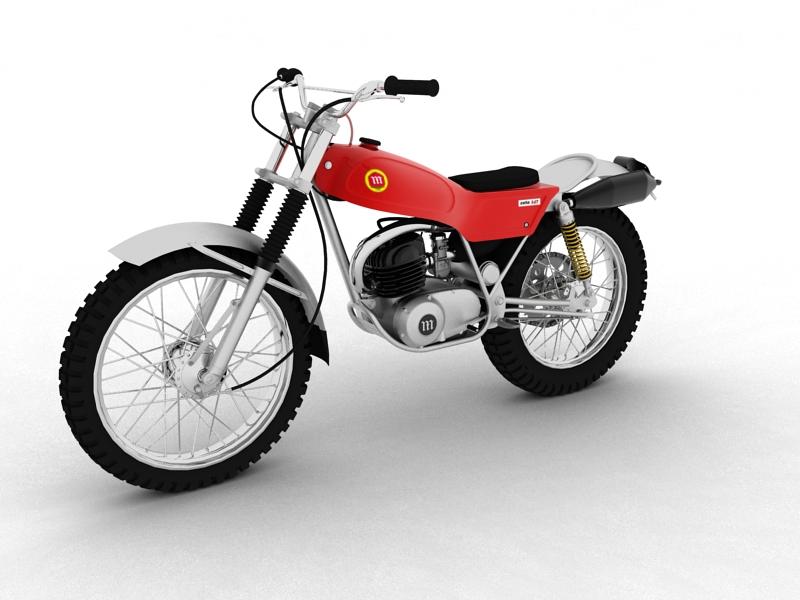 montesa cota 247 1970 3d model 3ds max dxf fbx c4d obj 156009