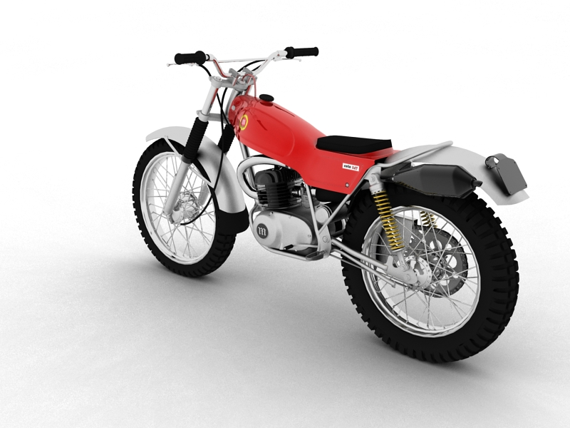 montesa cota 247 1970 3d model 3ds max dxf fbx c4d obj 156011