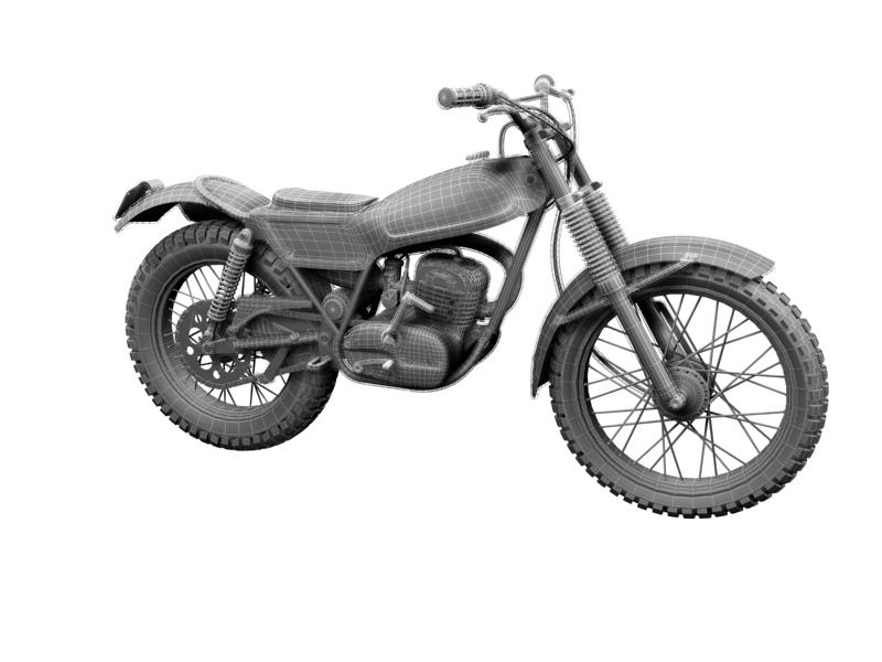 montesa cota 247 1970 3d model 3ds max dxf fbx c4d obj 156022