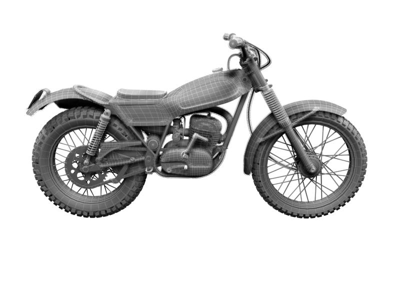 montesa cota 247 1970 3d model 3ds max dxf fbx c4d obj 156028
