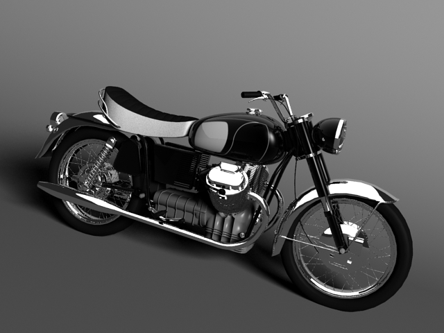 moto guzzi 850 california 1969 3d model 3ds max c4d obj 112330